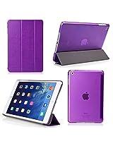 iPad Mini 4 Case - Bear Motion Premium Folio Case with Stand for Apple iPad Mini 4 (Support Smart Cover Function) - Purple