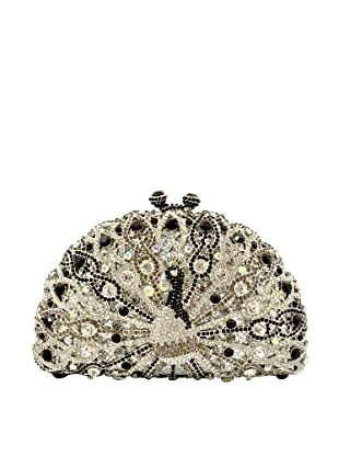 Ciel Collectables Bejeweled Peacock Handbag, Black and Clear