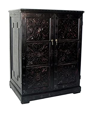 Charleston Benfu TV Cabinet, Antique Black
