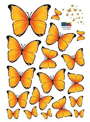 Ambiance Live Wandtattoo 18 tlg. Set Yellow Butterflies gelb