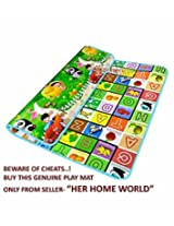 100% Waterproof, Double Side Baby Play & Crawl Mat (LARGE- 6'x5')