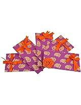 Twinkle Creation Handmade Paper Envelope With Flower Design-19 cm X 9.5 cm