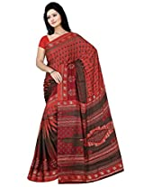 Sitaram Women's Red coloured georgette saree with blouse piece