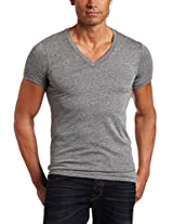 Alternative Men's Boss V-Neck Tee, Grey, Small