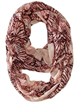 RAMPAGE Women's Conversational Light Weight Infinity Scarves, Pale Blush, One Size