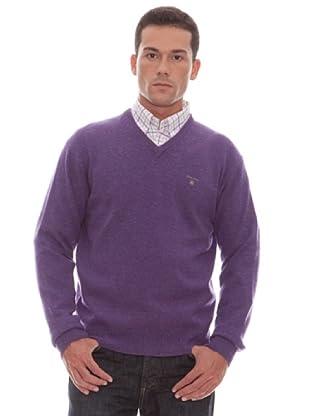 Gant Jersey Liso Pico (malva)