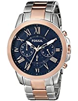 Fossil End of Season Grant Analog Blue Dial Men's Watch -FS5024