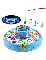 GOGO Fishing Electronic Double-layer Rotating Fishing Toy Set