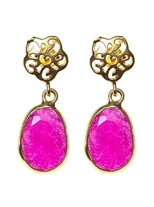 Córdoba Joyeros Pendientes Luxury Ágatha Rosa de Francia Oro