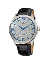 Joshua & Sons Men's JS-19-SS Diamond Quartz Strap Watch