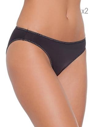 Selene Pack x 2 Braguita  Bikini Microfibra Sofia (Negro)