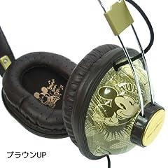 ミッキーマウス ステレオヘッドホン GDN-09BR