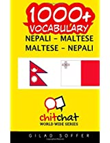 1000+ Nepali-maltese Maltese-nepali Vocabulary