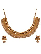 Ganapathy Gems 1Gram Gold Plated Lakshmi Coin Necklace With Pearls (7338)