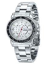 Giordano Chronograph White Dial Men's Watch - P131-44
