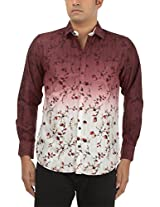 King Richard Men's Casual Shirt (AYK31_44, Light Pink, 44)