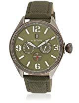 9478Qf03J Green Analog Watch