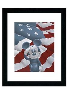 "Mickey Salutes America, 16"" x 13"""