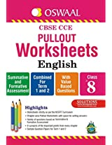 Oswaal CBSE CCE Pullout Worksheets English for Class 8