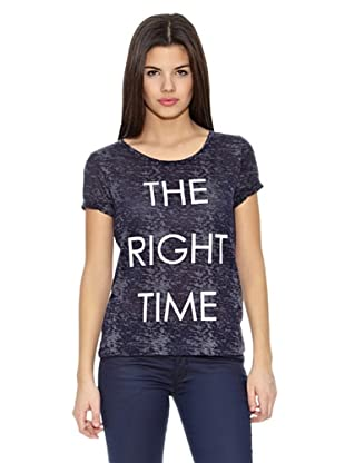 Springfield Camiseta Texto 1 (Azul)