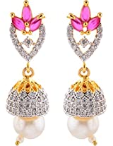 Ada Designer Jewellery Gold Silver Alloy Dangle & Drop Earrings for Women (ER-2)