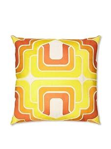 Trina Turk Embroidered Ogee Pillow (Orange)