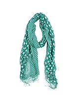 FUGEN Women's Wool Scarf (FF-2047, Green)