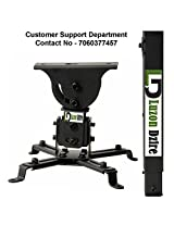 Luzon Dzire LCD/DLP Projector Vaulted Ceiling Mount Bracket with 22.4-Inch Extension Pole - Black PJ2B 1C9