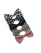 DBF0150 Multiple Stylies Microfiber Fashion Wear Pre-Tide Bowties 5 Pack Set Bow ties By Dan Smith