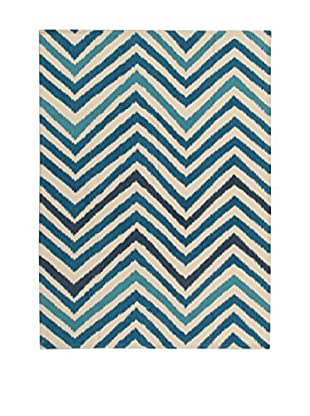 ABC Teppich Ikat Sea blau