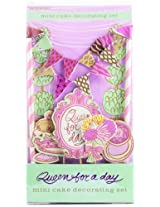 Party Partners Design Mini Cake Decor Kit, Queen for a Day