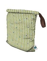 Planet Wise Roll Down Wet Diaper Bag, Meadow Tweets, Medium