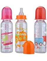 Set of 3 Mee Mee 250ml Feeding Bottle - (Colours May Vary)