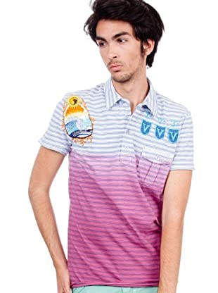 Custo Poloshirt Dalton (Blau/Rot)