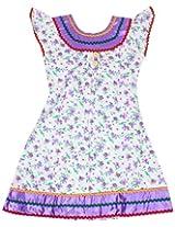 Saps - Short Sleeves Floral Print Frock