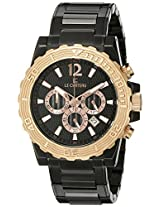 Le Chateau Men's 5417M_BLK Sports Dinamica Collection Gun-metal and Rose-gold Watch