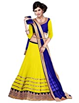 Vibes Women's 60gm Georgette Unstiched Party Wear Lehenga Choli (L13-25002_Yellow)