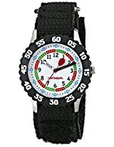 Red Balloon Kids W000176 Black Velcro Stainless Steel Time Teacher Watch