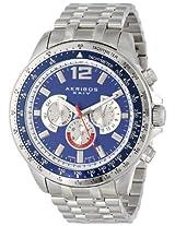 Akribos XXIV Men's AK653BU Grandiose Swiss Multifunction Blue Dial Silver-tone Stainless Steel Bracelet Watch
