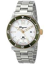 Salvatore Ferragamo Mens FF3150014 FERRAGAMO 1898 SPORT Analog Display Swiss Quartz Silver Watch