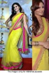 Bollywood Replica Monica Bedi 60 Gram Georgette Saree In Yellow Colour NC 550