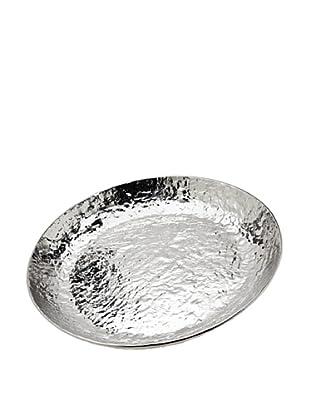 Godinger Lava Round Platter, Nickelplate