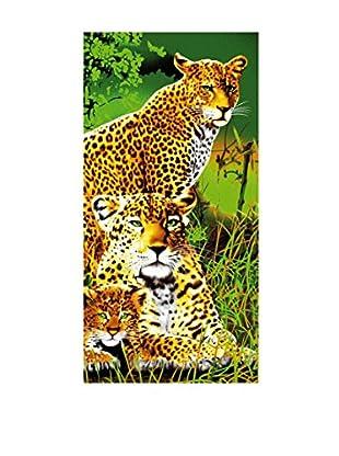 Art Experience Toalla de Playa Tigres Multicolor 75 x 152