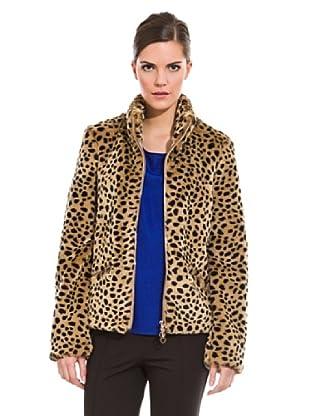 Cortefiel Chaquetón Mouton Leopardo (Tostado)