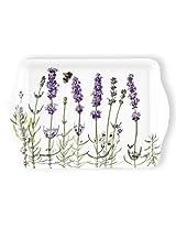 Ashdene I Love Lavender 4.8 by 7-Inch 100-Percent Melamine Snack Tray