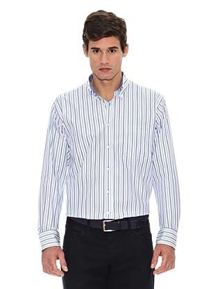 Turrau Camisa Raya Triple / Doble Bicolor (Azul)