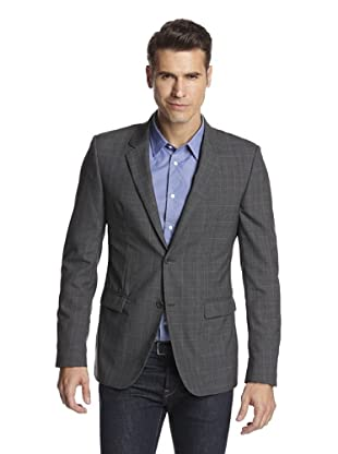 Calvin Klein Collection Men's Bowery Two Button Sportcoat (Squirrel Grey)