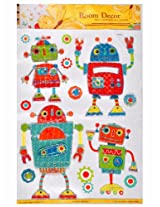 Ollington St. Room Decor Self-Adhesive Walloaoer Robot Stickers