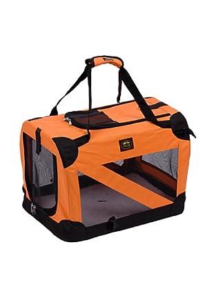 Pet Life 360° Vista View Soft Folding Metal Frame Pet Crate (Orange)