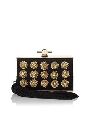 Jason Wu Women's Daphne Studded Box Clutch, Black/Gold